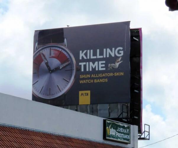 """Killing Time"" billboard in Miami"