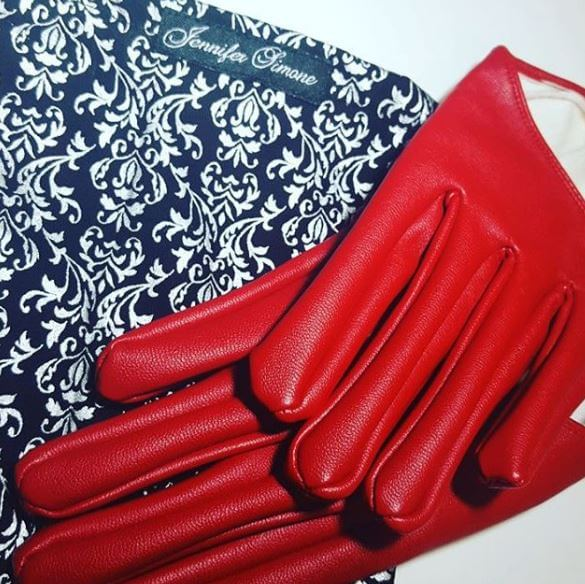 red-leather-faux-leather-gloves