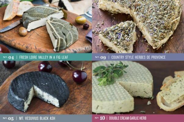 Moyoko's vegan cheese collage