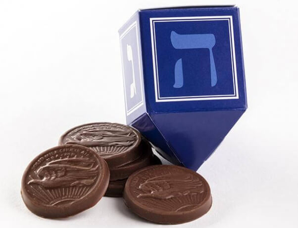 Vegan gelt (chocolate coins)