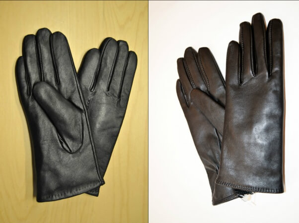 Dog leather vs. cow leather. Can you tell the difference?