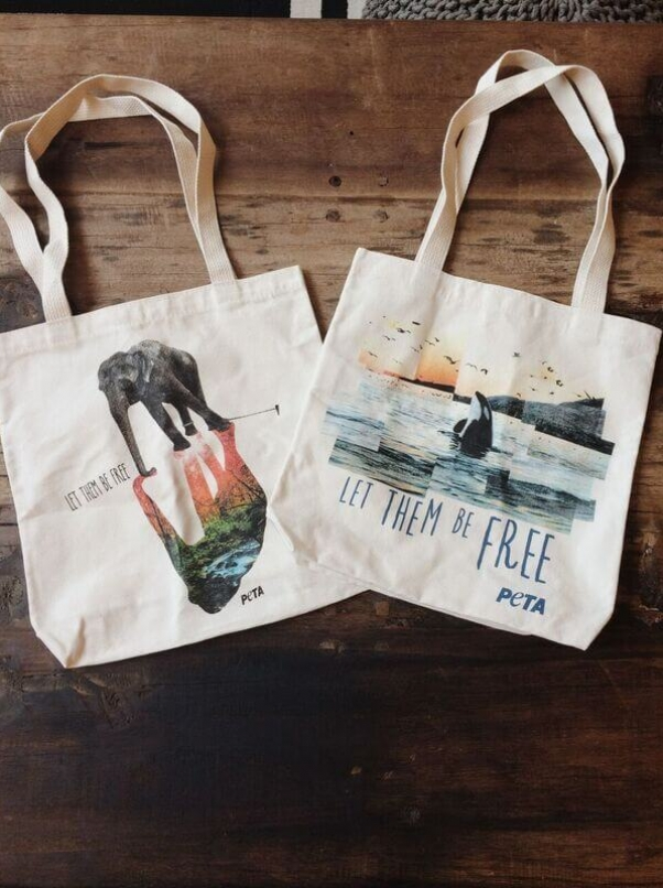 let them be free elephant orca tote bag peta catalog