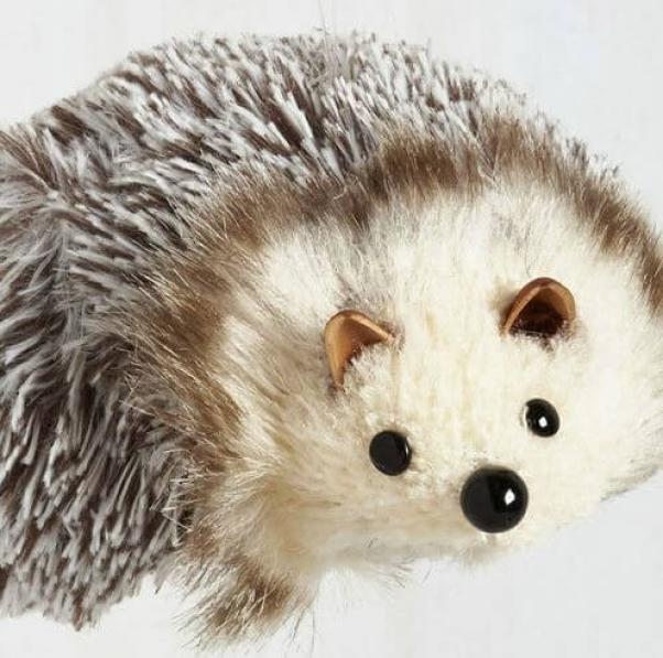 modcloth hedgehog christmas ornament