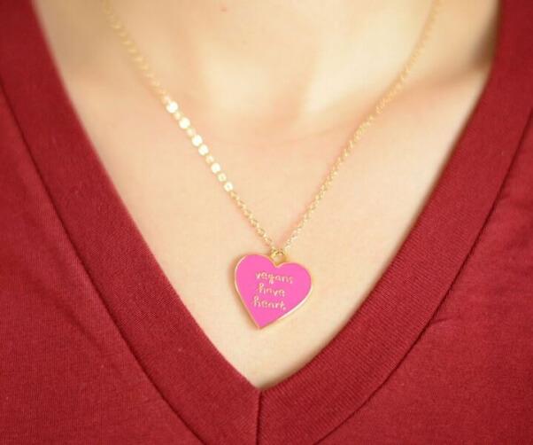 vegans have heart necklace peta catalog