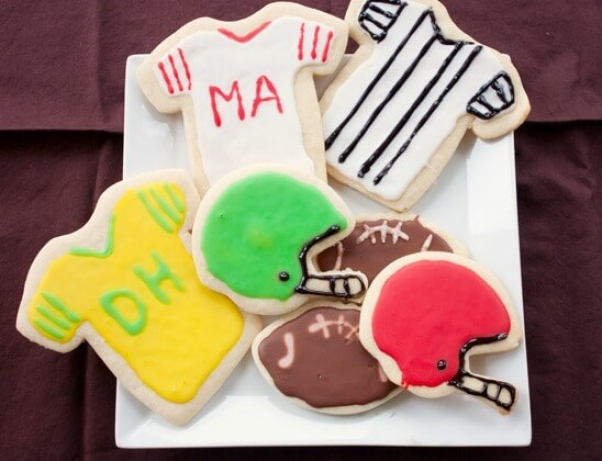 Football Cut-Out Sugar Cookies