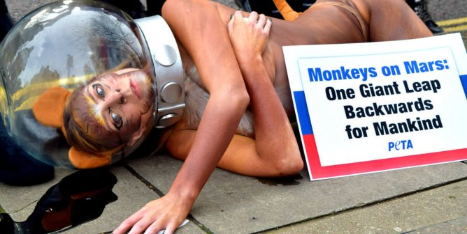Photos: 'Dying Monkey' Begs Russia Not to Send Primates to Mars