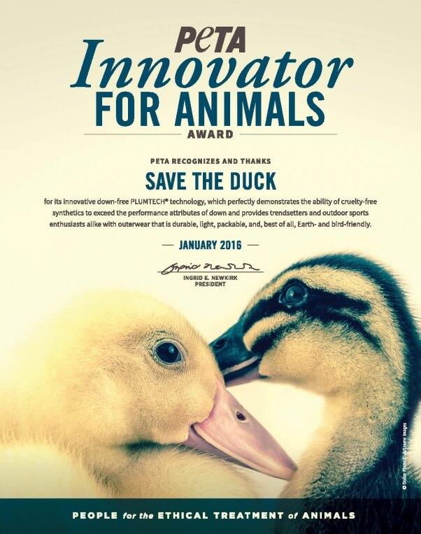 promo code 80b1a 823b4 Save the Duck's Revolutionary Plumtech™ Outperforms Down | PETA