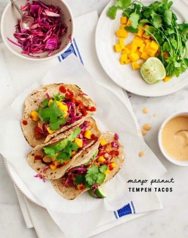 mango tempeh taco