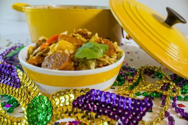 Vegan Jambalaya Yellow Pot