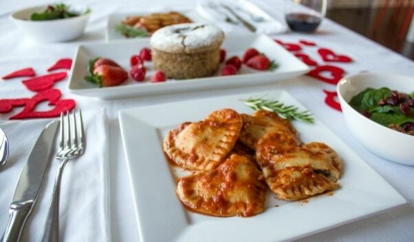 Vegan Valentine's Day Recipes Heart Shaped Ravioli4