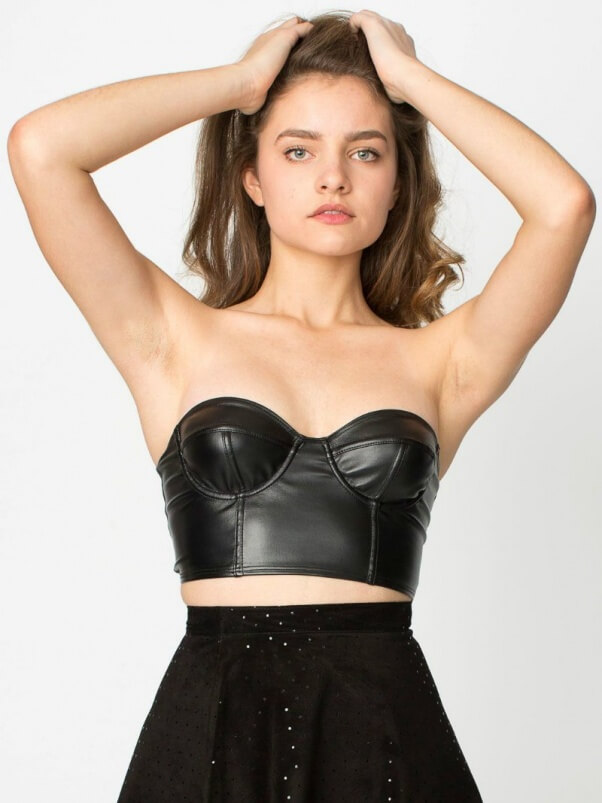 american apparel vegan leather bustier