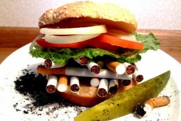 cigarette cancer burger