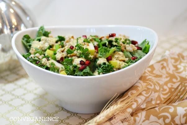 kale farro chia salad