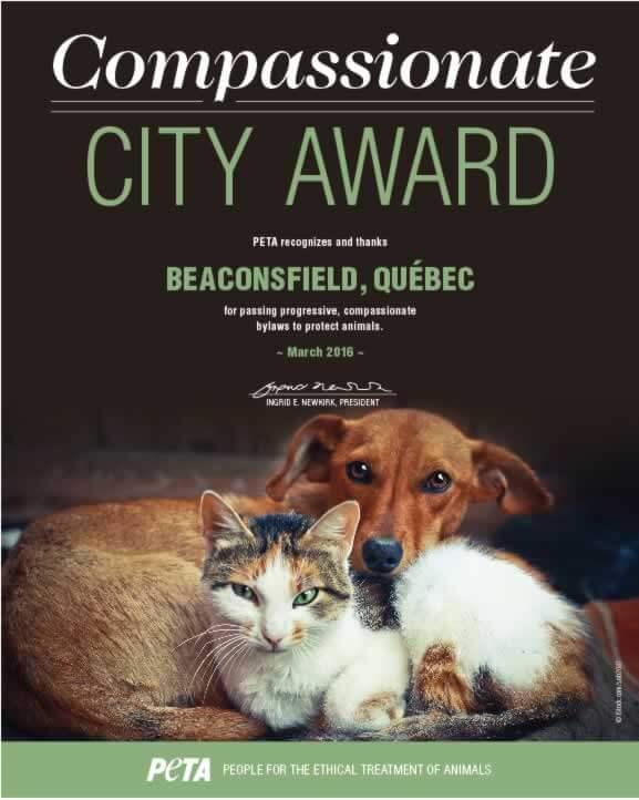 Compassionate City Award_Beaconsfield Quebec
