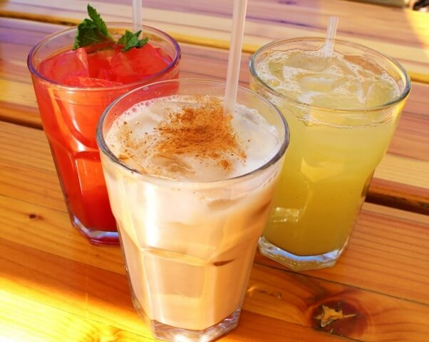 Trejos Tacos Vegan Horchata and other drinks