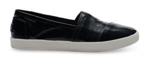 Patent linen toms shoes