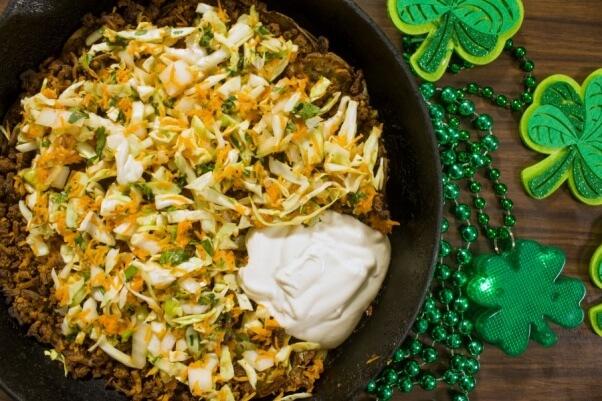 Vegan St. Patrick's Day Irish Nacho Pie Recipe