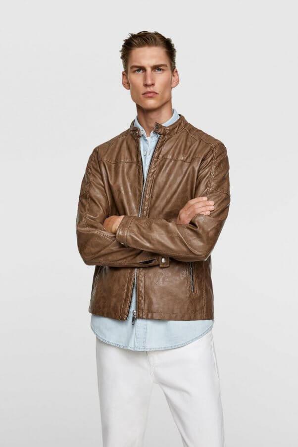 Zara Faux Leather Bike Jacket