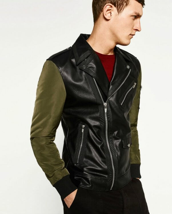 leather biker jacket zara australia clothing