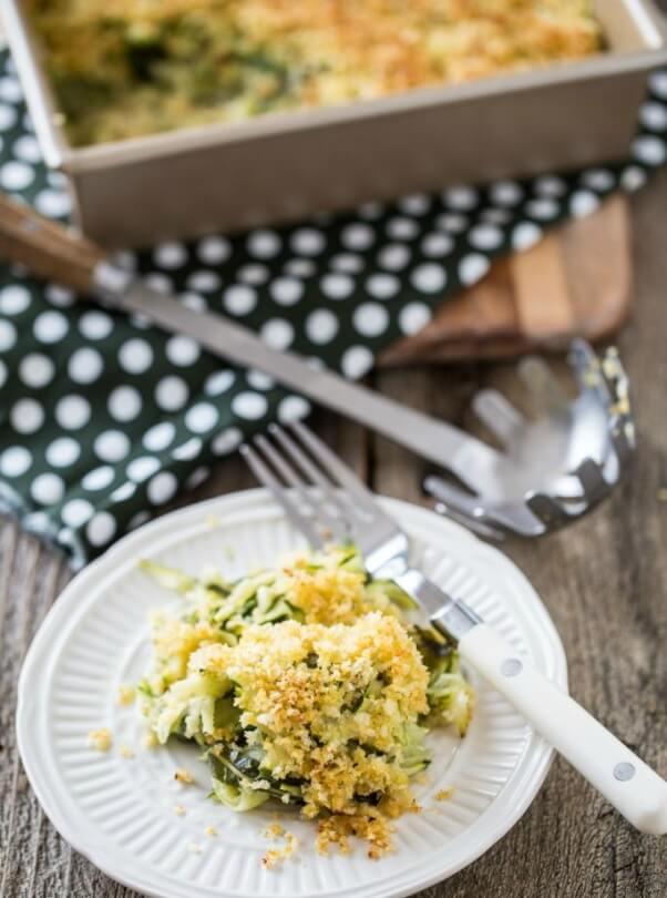 vegan zucchini basil casserole