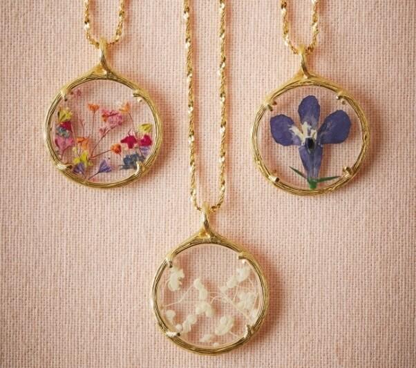 BHLDN Pressed Flower Necklaces