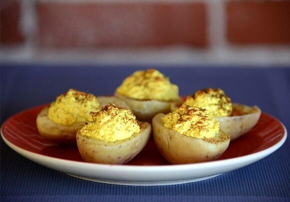 easy vegan microwave recipes, peta vegan college cookbook, deviled potatoes