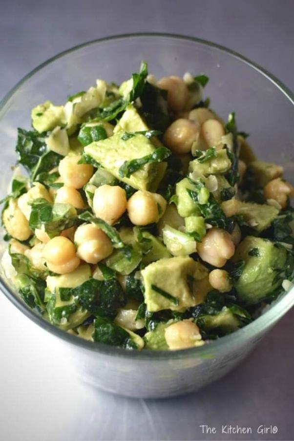 Kale-Chickpea-Avocado-Salad-The-Kitchen-Girl