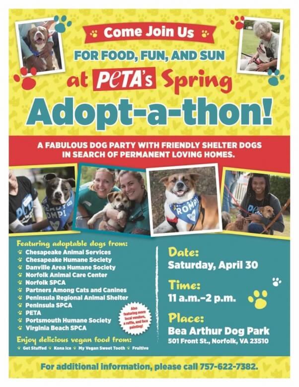 Spring Adopt-A-Thon poster 2016