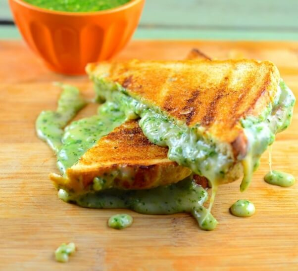 Tomato Salsa Grilled Cheese