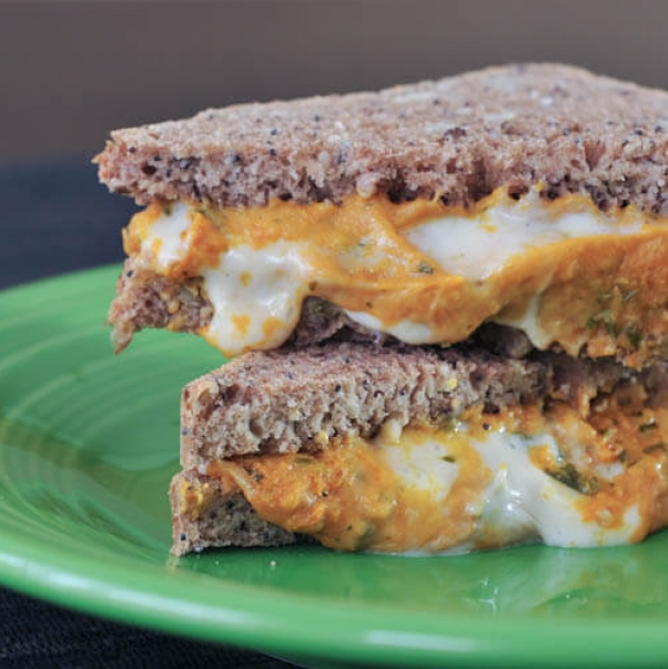 butternut squash grilled cheese sandwich