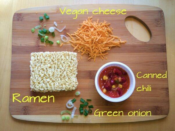 chili-cheese-ramen-prep