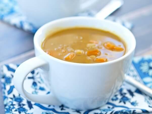 coconut curry chickpea lentil soup
