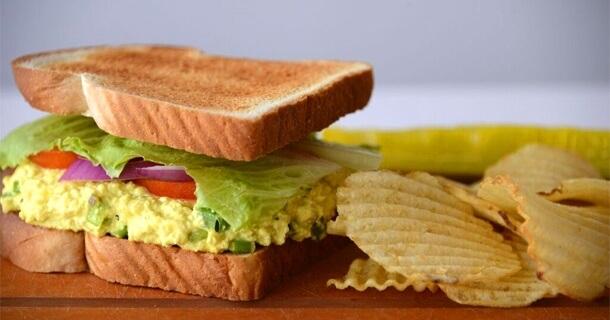 College Cookbook Eggless Sandwich