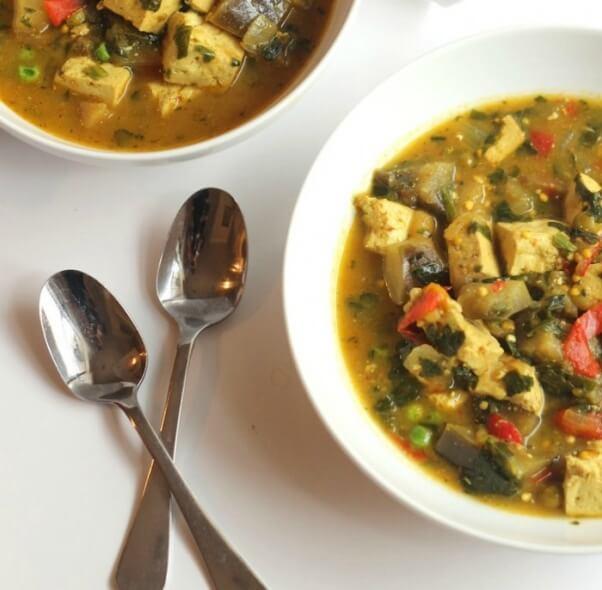 Crockpot Vegetable Curry Tofu