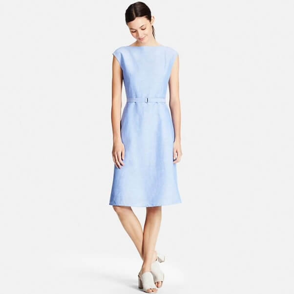 linen UNIQLO dress