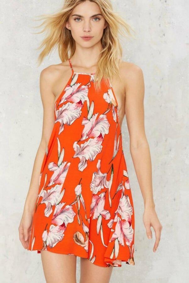 nasty gal tangerine dress
