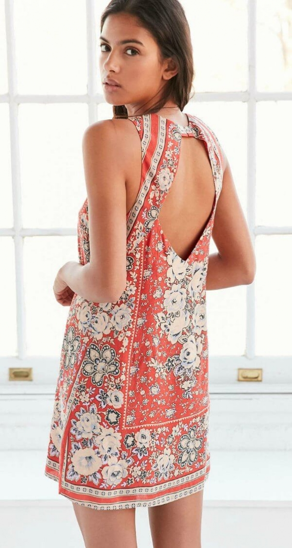 urban outfitters open back dress