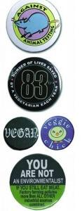 vegan essentials buttons