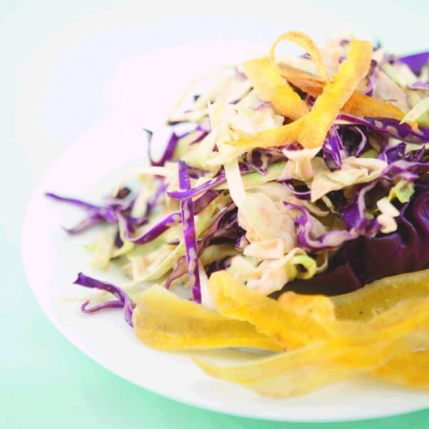 Spork Foods Jerk Coleslaw with Plantain (Vegan)