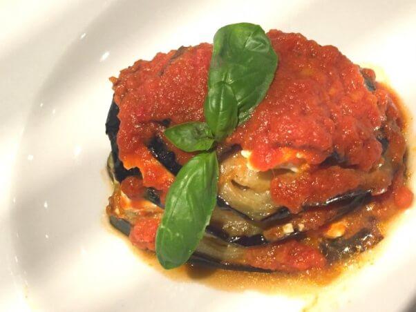 Vegan Eggplant Dish on Cruise