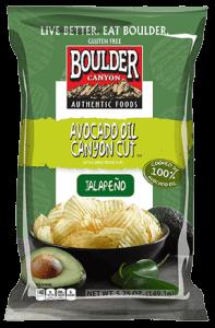 Boulder Canyon Avocado Oil Canyon Cut Jalapeño Chips