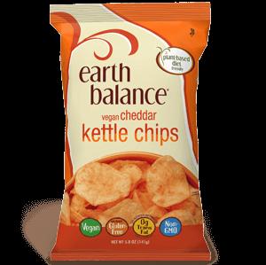 Earth Balance Vegan Cheddar Flavor Kettle Chips