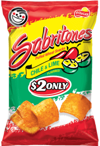 Chile & Lime Flavored Sabritones Puffed Wheat Snacks