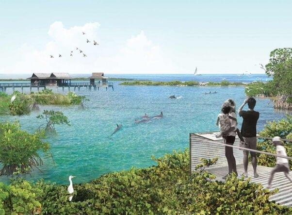 Aquarium rendering national aquarium dolphins
