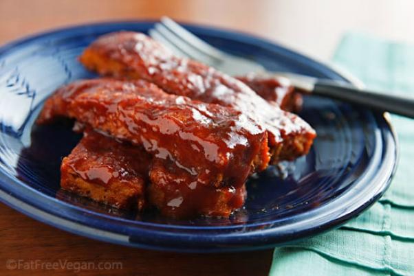 BBQ ribs vegan fatfree kitchen
