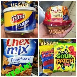 Vegan 711 food Collage