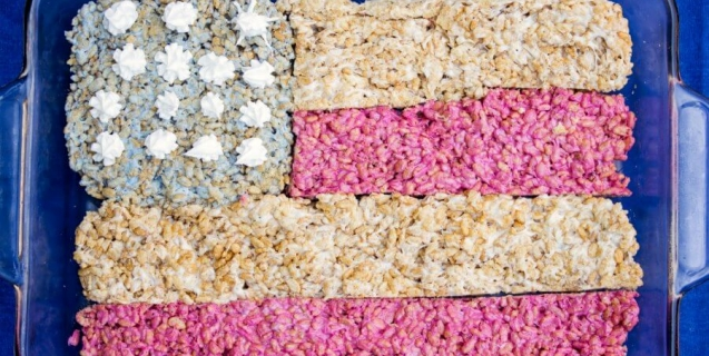 Vegan 4th of July Recipe: Red, White, and Blue Rice Crispy Treats ...