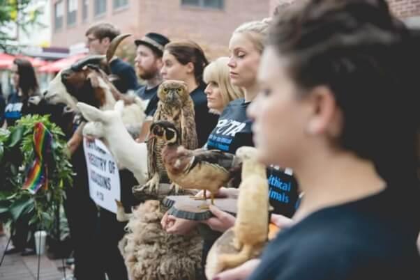 PETA demo at NRA
