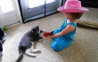 Video: Cat Healing From Gunshot Wounds Finds Best Friend in Little Girl