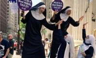'Nuns' on Stilts to Demand a Sin Tax on Meat at Democratic Nat'l Convention